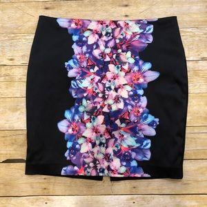 EXPRESS | Floral Pencil Skirt Size 10